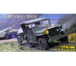 Heller 81105 - Jeep Willis & Trailer
