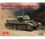 ICM 35365 - ?-34/76 (early 1943 productions), WWII Soviet Medium Tank  (