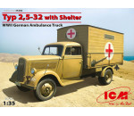 ICM 35402 - Typ 2,5-32 with Shelter, WWII German Ambulance Truck