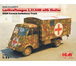 ICM 35417 - Lastkraftwagen 3,5 t AHN with Shelter, WWII German Ambulance