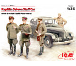 ICM 35477 - Kapitan Saloon Staff Car with Soviet Staff Personnel