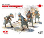 ICM 35691 - French Infantry (1916) (4 figures) (100% new molds – 2016)