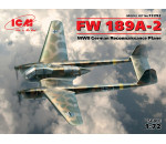 ICM 72292 - FW 189A-2. WWII German Reconnaissance Plane