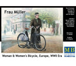 MasterBox 35166 - Frau Müller.Woman &woman`s bicycle Europ