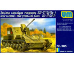 Unimodels UM305 - Anti-Aircraft self-Propelled plant ZSU-37 (1943)